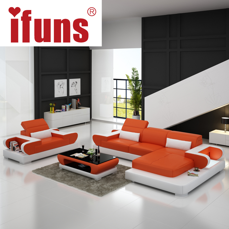 ifuns sofas for living room large corner sofa modern design l shaped sectional sofa genuine. Black Bedroom Furniture Sets. Home Design Ideas