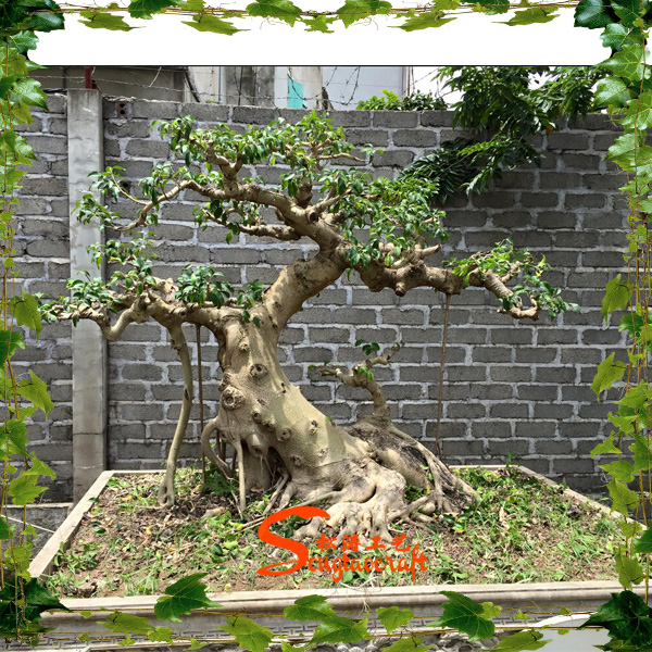 Artificial Plastic Banyan Tree 5 6ft High Fake Curved