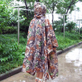 New Raincoat 3in1 Waterproof Outdoor Military Travel Camouflage Poncho Backpack Rain Cover Tent Mat Awning Hunting