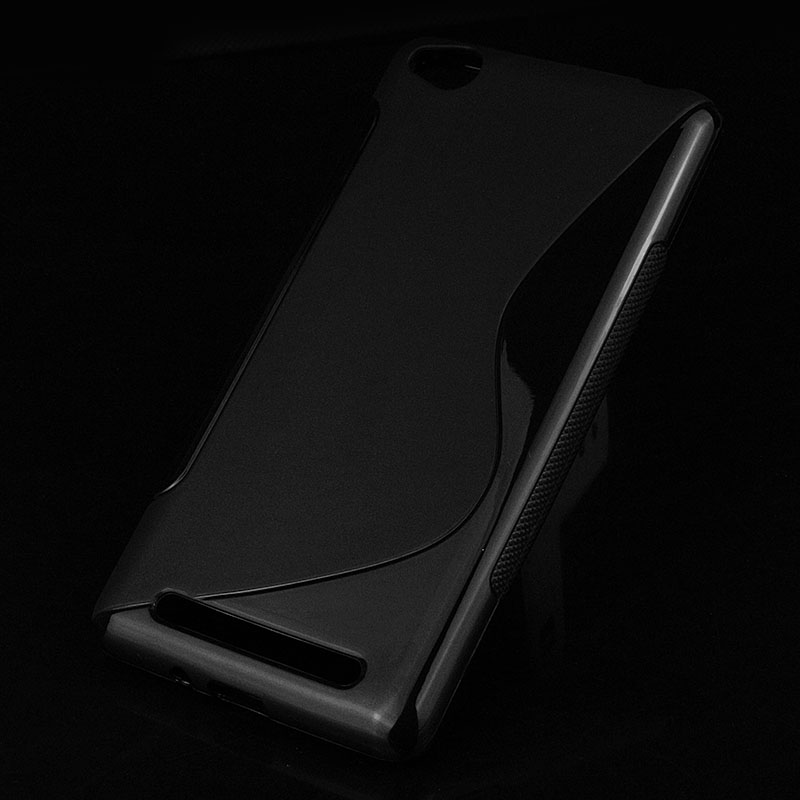 S lines Soft TPU Case For Xiaomi redmi 3 Back Protect Rubber Silicone Phone Bags