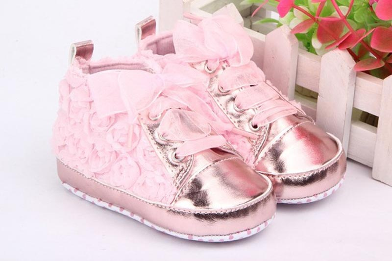 c679d67fa7218 Baby shoes New 1 Pair Baby Girls Toddler Shoes Rose Lace Soft Bottom  Princess High Shoes First Walkers