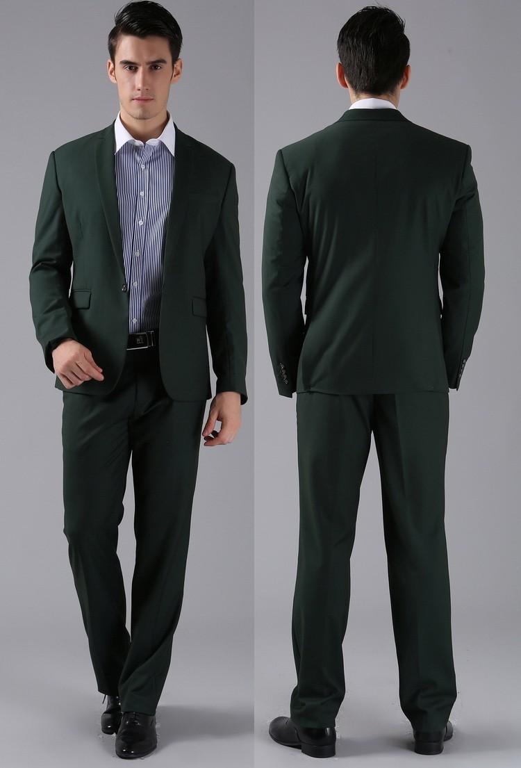 (Kurtki + Spodnie) 2016 Nowych Mężczyzna Garnitury Slim Fit Niestandardowe Garnitury Smokingi Marka Moda Bridegroon Biznes Suknia Ślubna Blazer H0285 65