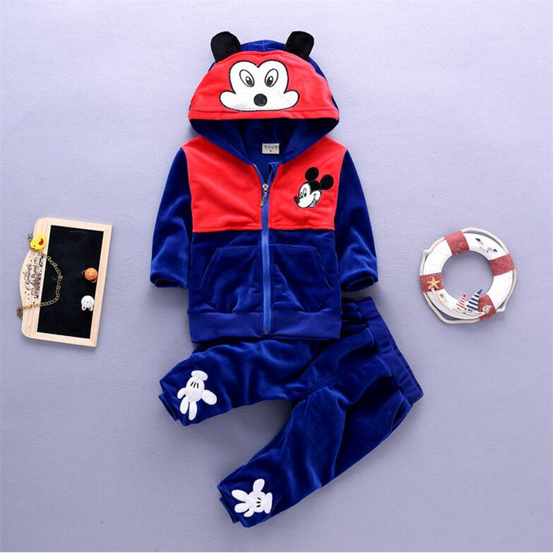 Korean version Toddler baby boys Cartoon Clothing Set kids boy 2016 Spring Autumn cotton tracksuits children clothes sports suit
