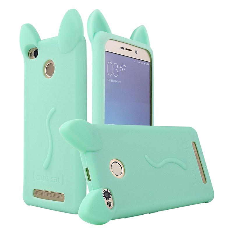 super popular c2cc8 58687 Soft Silicon Case For Xiaomi Redmi 3S 3 S Pro Prime Note 4 3 Cover Soft  Silicone Cute Cate Phone Cover Case For Redmi 3S Case