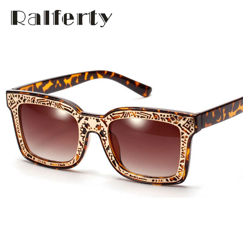 b784119086db Ralferty Vintage Ladies Big Square Sunglasses Women Brand Designer Retro  Sport Sun Glasses Female Shades Oculos lunettes 0021-in Sunglasses from  Women's ...