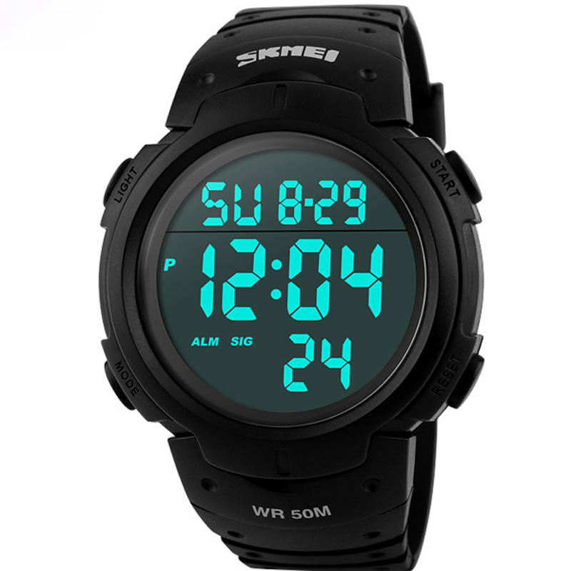 Skmei люксовый бренд мужские спортивные часы погружения 50 м цифровой из светодиодов военные часы мужчины мода свободного покроя электроника наручные часы часы