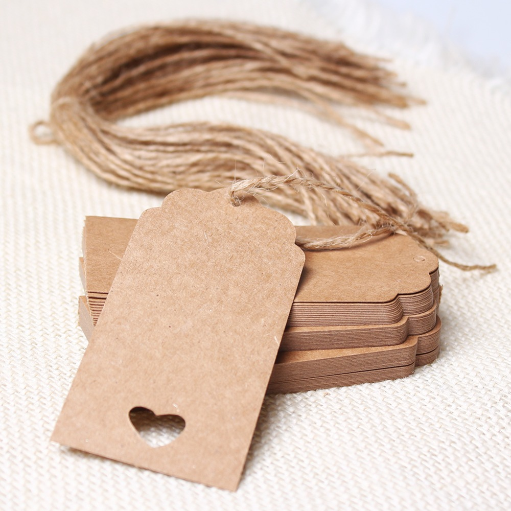 online get cheap paper circle com alibaba group rectangle and circle shape design 50 pcs brown kraft paper hang tags wedding party favor punch