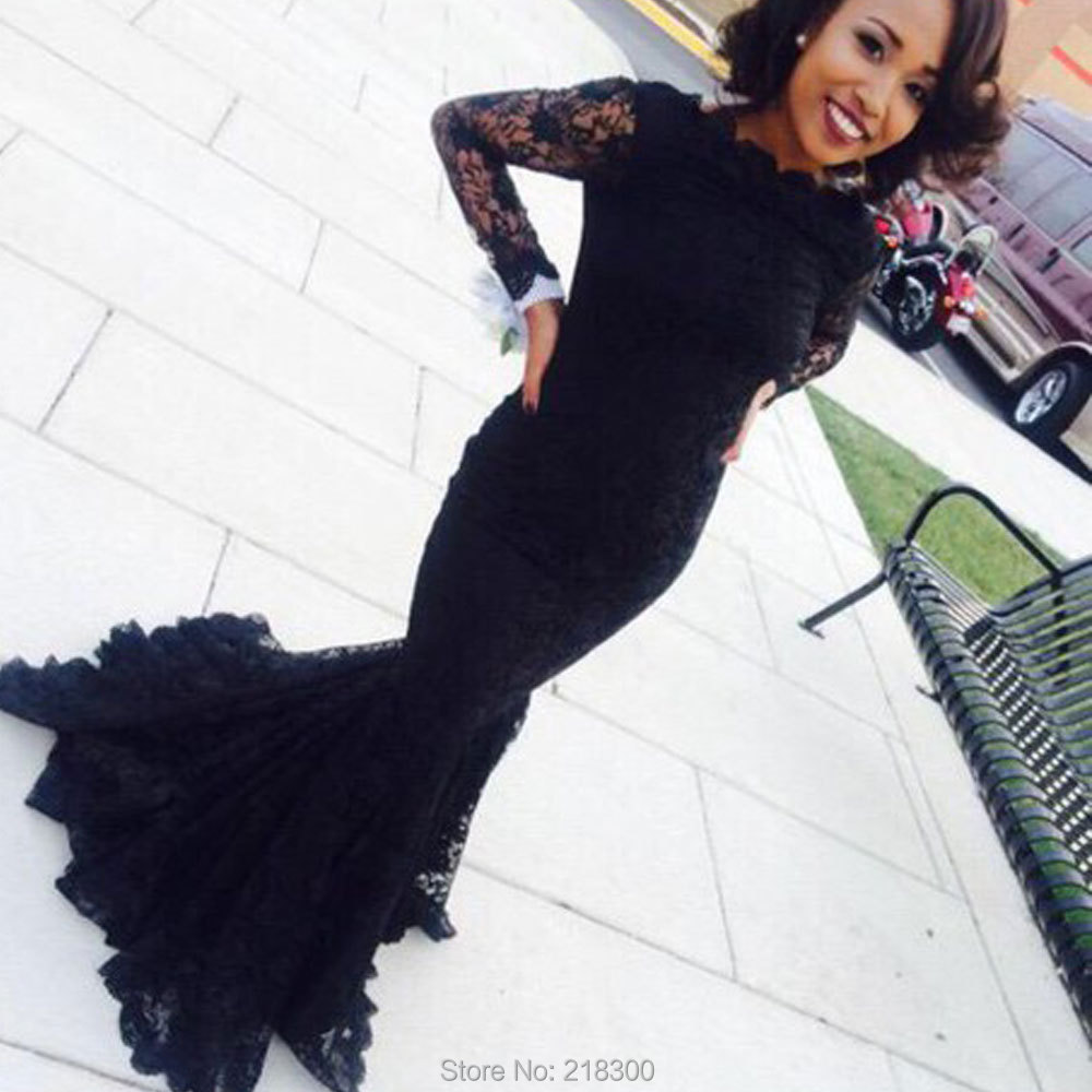 93697af30a Black Velvet Long Sleeve Prom Dress - Gomes Weine AG