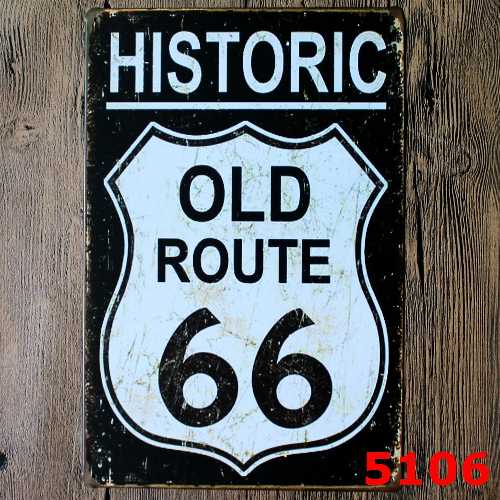 black old route 66 usa metal plaque vintage style wall sticker pub house metal painting tin sign. Black Bedroom Furniture Sets. Home Design Ideas