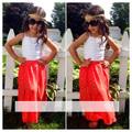 2016 Summer New Girls Suit Suspenders Dress 2pcs set leisure suits children s wear T shirt