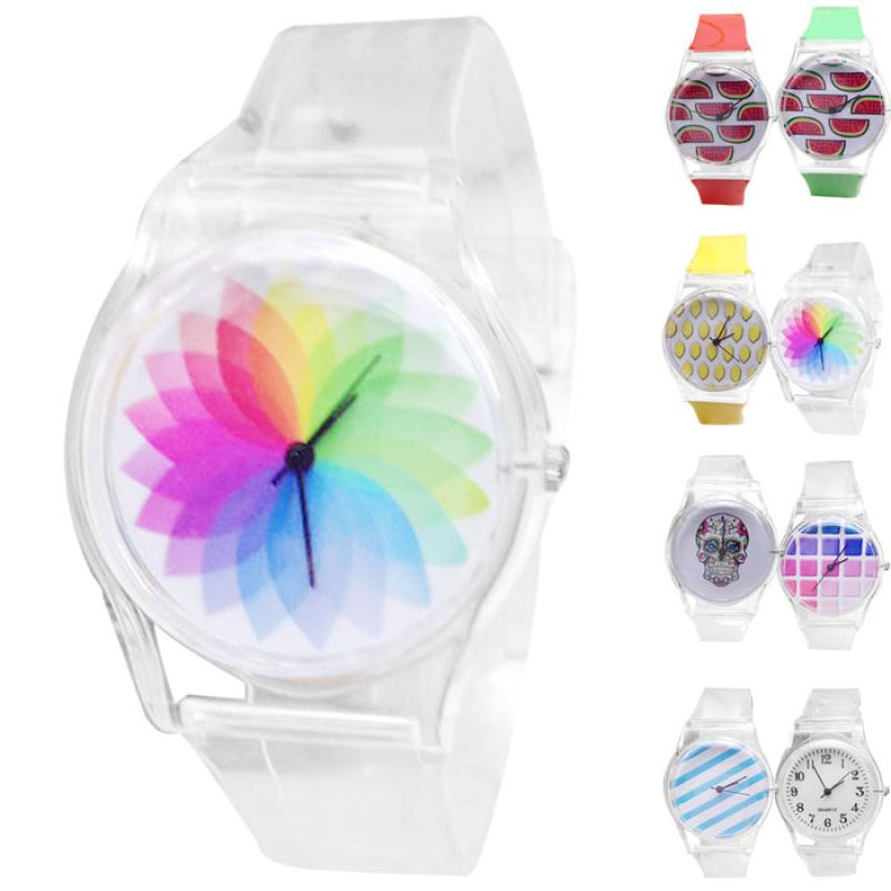Newly Design Fruit Pattern Watch Kids Children Silicone Quartz Wrist Watches Gift Sep24