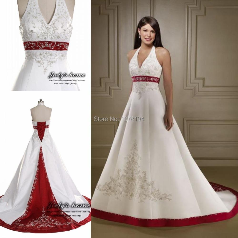 Red Halter Neck Bridesmaid Dresses