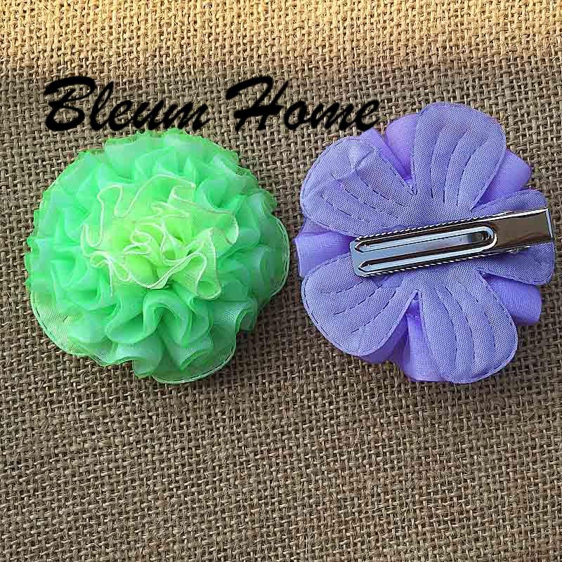 unids rose flores horquillas nios pinzas para el cabello broches decoracin de la muchacha
