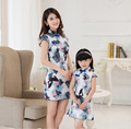 Freeship classic Chinese style chi pao cheongsam family match outfits PARENT CHILD dresses mother doughter one