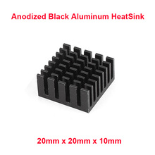 5pcs/lot Anodized Black Aluminum Heatsink 20x20x10mm Electronic Chip Cooling Radiator Cooler for power IC,Electric chipset etc.