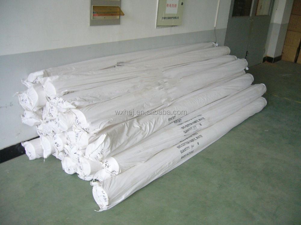 gros plaine tissu de coton blanc pour drap de lit taie d 39 oreiller housse de couette tissus. Black Bedroom Furniture Sets. Home Design Ideas