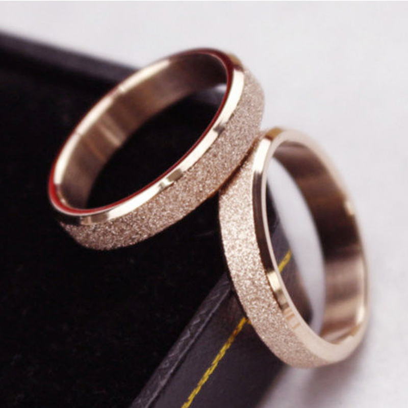 Grosshandel Grosshandels Silber Rose Gold Farbe Ehering Matt Paar Ring