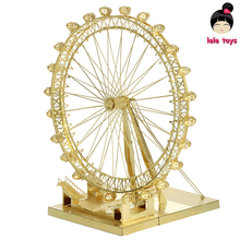 New arrival Hand assembled exquisite jigsaw puzzle London Eye ICONX METAL EARTH 3D Metal model Etching