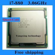 Core i7 880 3.06GHz 8M SLBPS Quad Core Eight threads desktop processors Computer CPU Socket LGA 1156 pin
