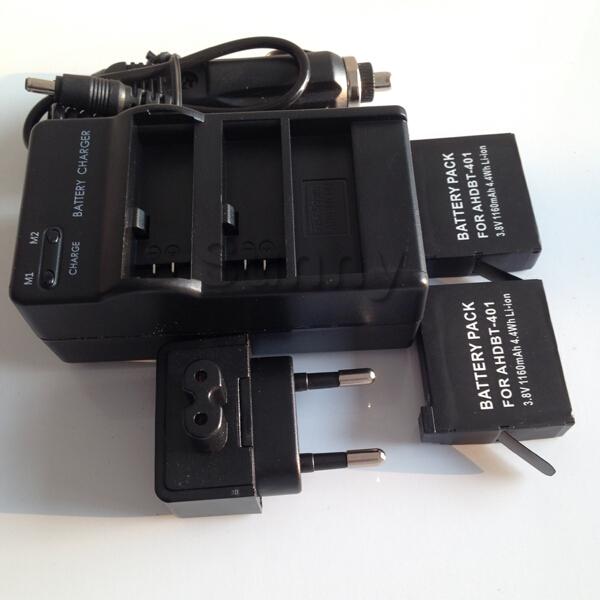 Go Pro Accessories Go Pro Hero 4 Gopro Battery Go Pro Camera AHDBT-401 AHDBT401