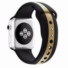 Ремешок для Apple Watch 5 4, ремешок 42 мм, 38 мм, спортивный браслет, мягкая силиконовая лента, резиновый ремешок для iWatch Series 4, 3, 2, 1, 44 мм, 40 мм(Китай)