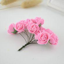12 шт., искусственные цветы из пенопласта для дома, свадебные украшения для автомобиля, помпон для гирлянды «сделай сам», Декоративные искусс...(Китай)