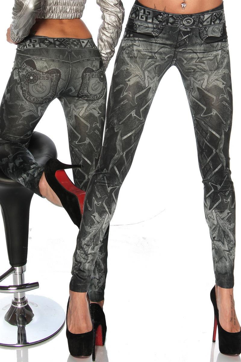 Новинка женские брюки бесшовные татуировки окрашены девять представляет кальсоны леггинсы эластичный стрейч дамы леггинсы фитнес роковой