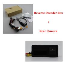Парковочная камера заднего хода автомобиля для Audi Q5 8R 2010-2020 задняя камера Full HD CCD оригинальная система обновления экрана декодер автомобиль...(Китай)