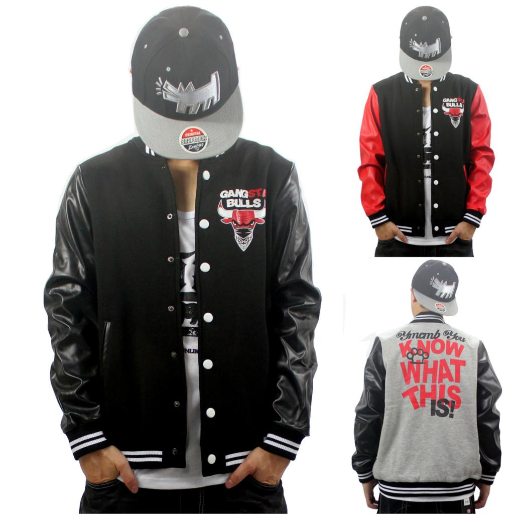 West Gangsta Bulls Personality Casual Bull Leather Jacket