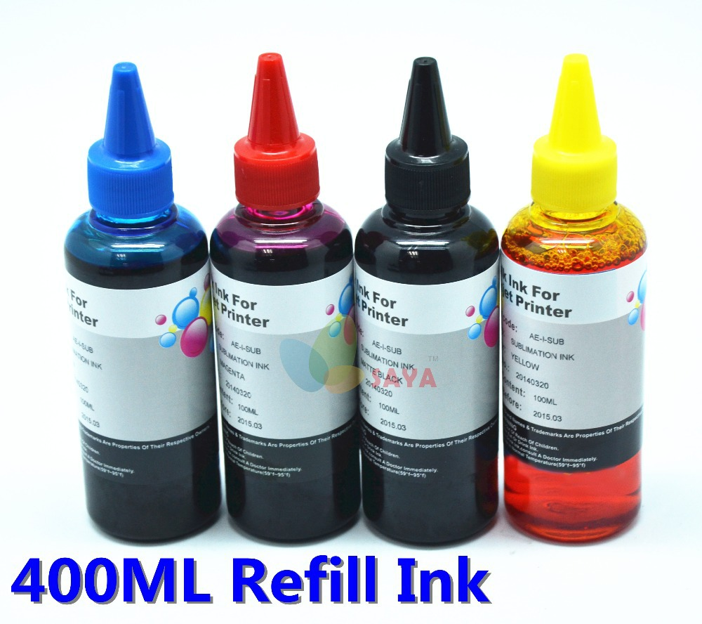400 мл universal стержень чернила, 4 цвета C M Y k, Костюм для Eposn Canon HP Brother принтер