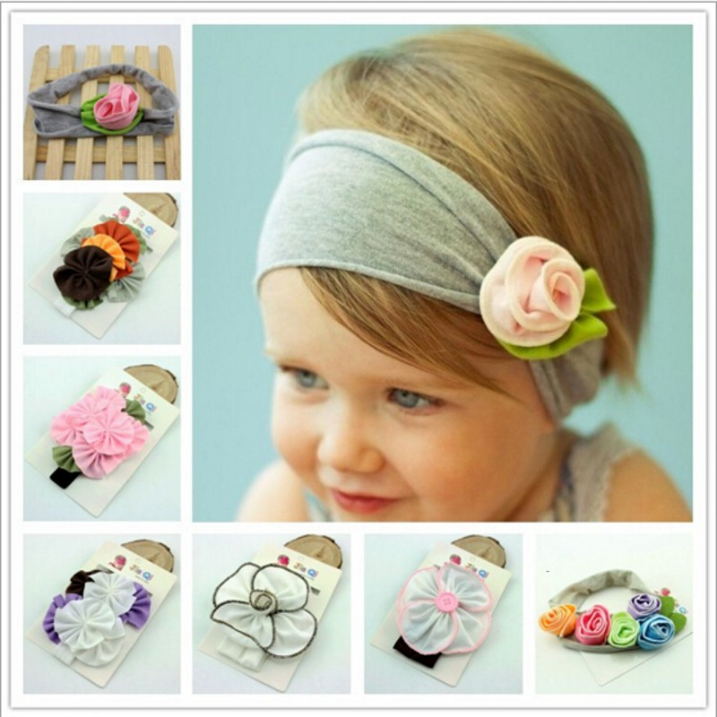 Cheeper 8 Colors Cotton Stretch baby hair wear hairband infant accessories