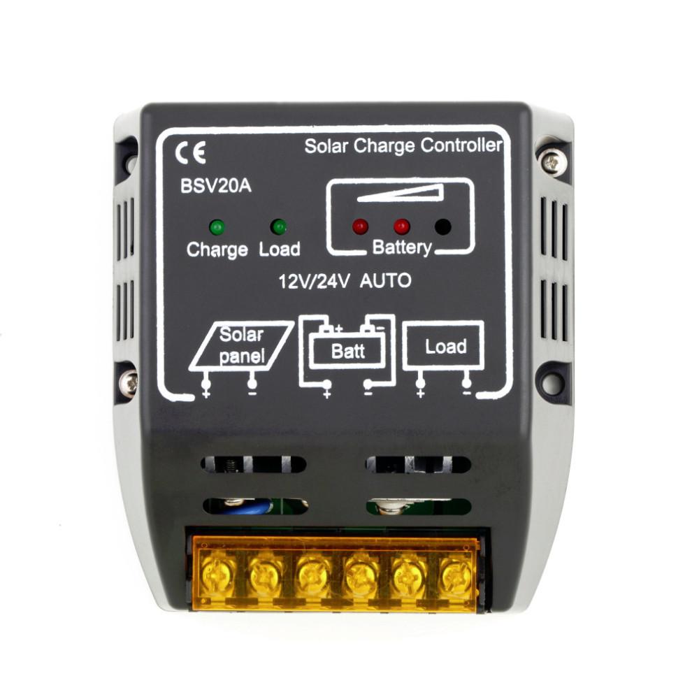 1PCS 20A 12V/24V Solar Panel Charge Controller Battery Regulator