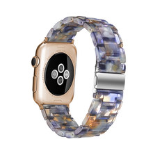 Ремешок для часов из смолы для apple Watch 5 4 band 42 мм 38 мм correa из прозрачной стали iwatch series 5 4 3/2/1 ремешок для часов 44 мм 40 мм(Китай)