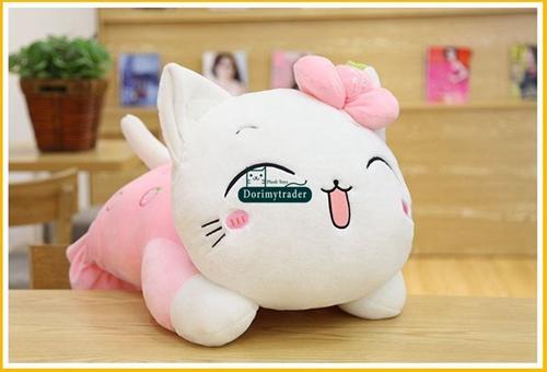 5ad91e0f2b32 Dorimytrader lifelike animal lying cat plush toy soft simulation cats pet  doll decoration for car kids gift 18X31cm DY80028