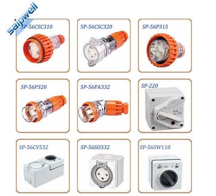 15a 3 Flat Pin Weatherproof Straight Plug