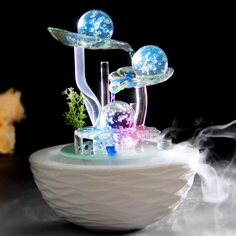 water fountain lucky feng shui wheel humidifier home decoration gift technology decoration on. Black Bedroom Furniture Sets. Home Design Ideas
