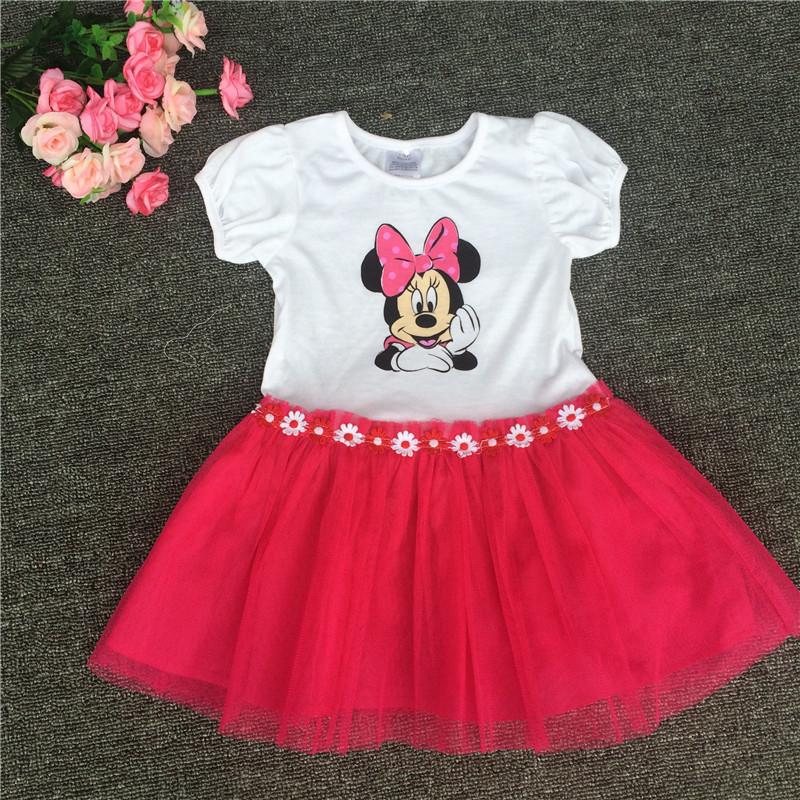 Compra Minnie mouse vestido de fiesta online al por mayor