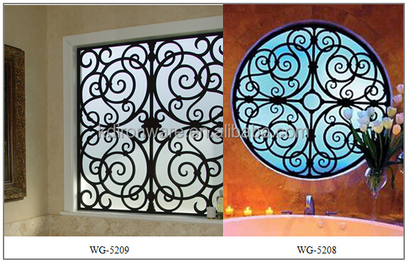 Simple Decorative House Wrought Iron Window Grills, View
