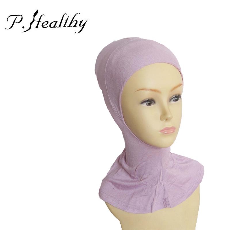 Arab Scarf Full Cover Inner Muslim Cotton Hijab Cap ...