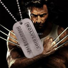 Male Cool Kpop X-men Wolverine 2 Necklace Vintage Weapon-x Dog Tags Pendant