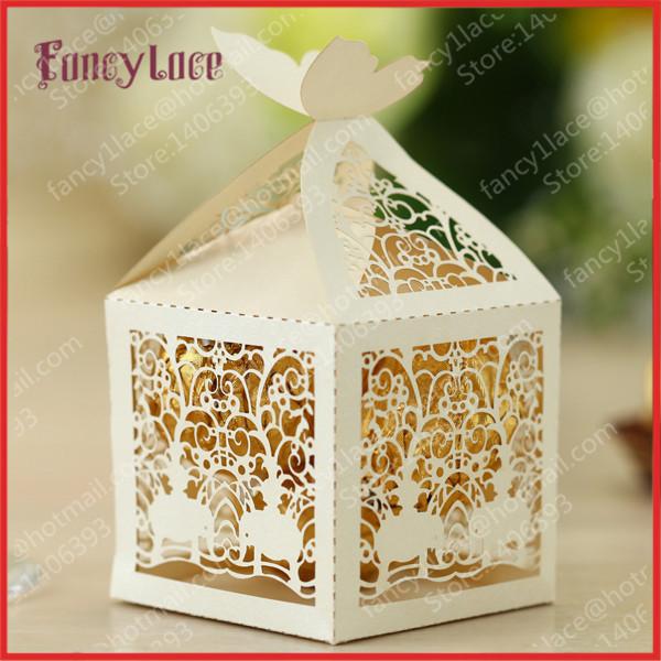 Indian Wedding Favors Wholesale: 100PCS, Wholesale Laser Cutting Indian Wedding Sweet Boxes