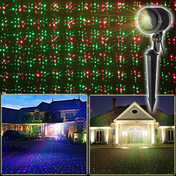 RGB Outdoor Holiday Light Projector Moving Twinkle IP65