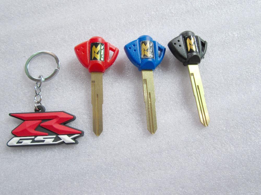 Gsxr ключи от машины пустой режиссерский лезвие брелок брелок брелок сеть для мотоцикла SUZUKI GSXR 1000 / 600 / 750 GSX1300R 99-07 GSX-R