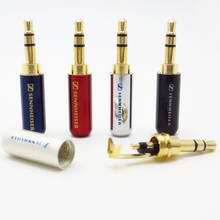 Free shipping 3.5 mm Audio jack connector Adapter gold-plated headphone plug Laser light carving Stereo headset rca dual