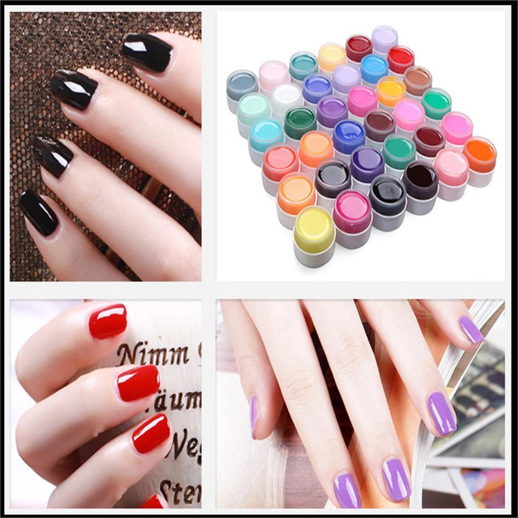 2016 hot sale 36 Colors Nail Gel Pure Nail Polish Shiny Extension Nail Art UV Gel