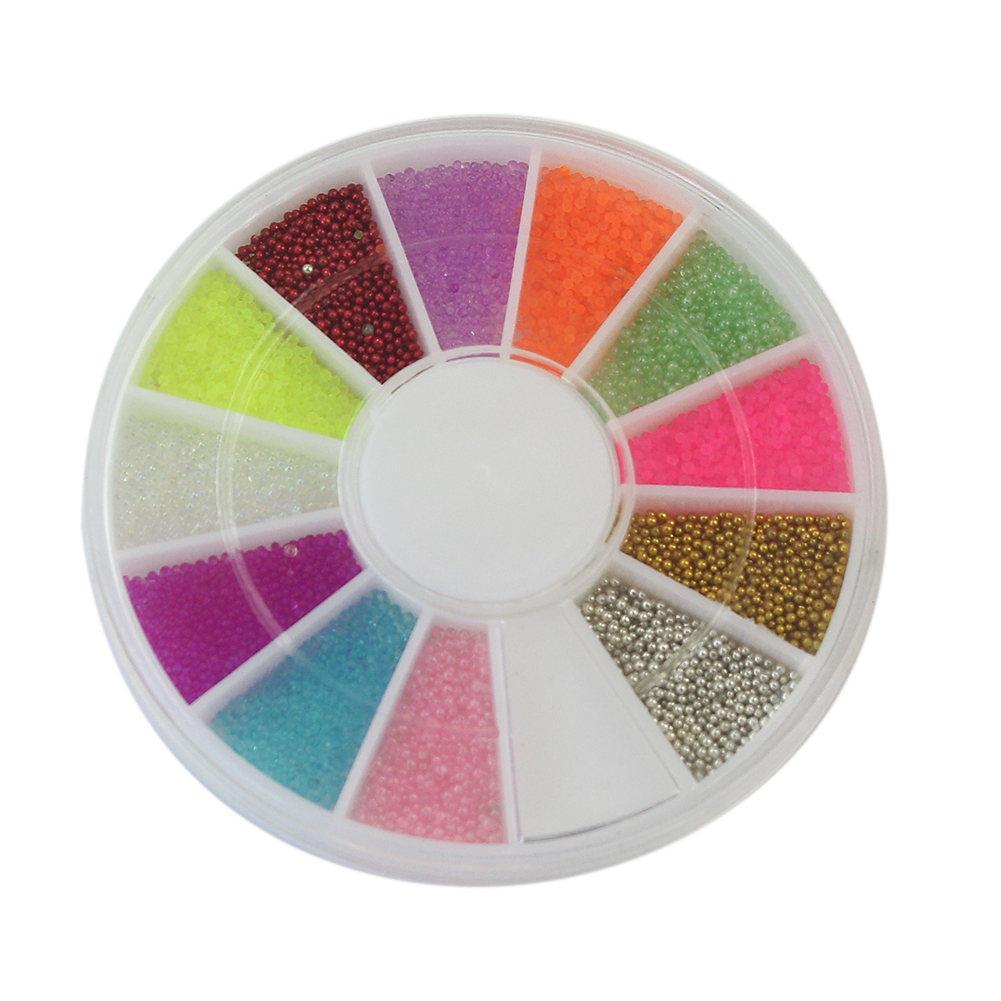 12 Colors Stylish Mini Faux Pearl Bead Design Nail Art <font><b>Tips</b></font> DIY Manicure Accessories Salon <font><b>Home</b></font> Manicure For Women Lady Girls