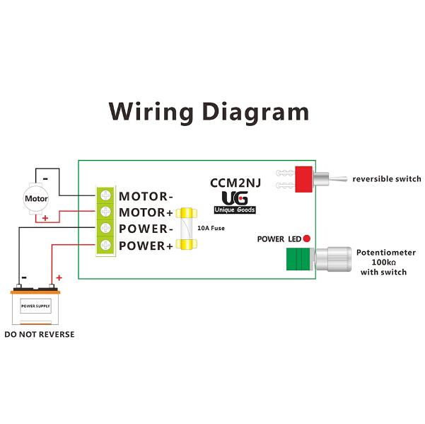 12v 60v 10a pwm dc motor speed controller adjustable regulator switch ebay. Black Bedroom Furniture Sets. Home Design Ideas