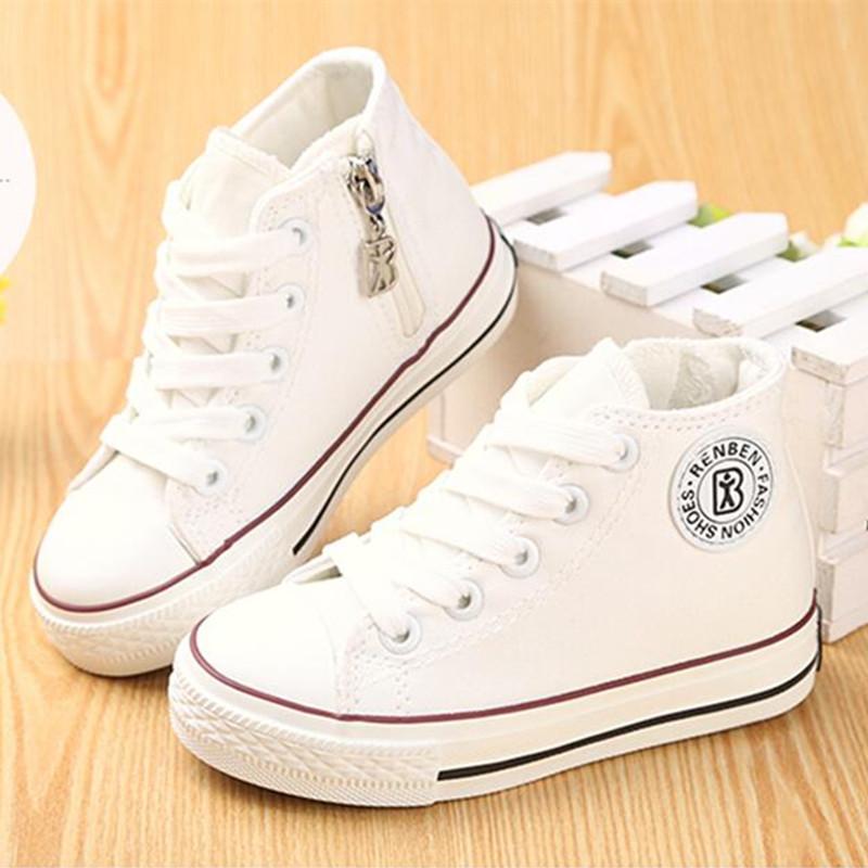 White Canvas Shoes Child