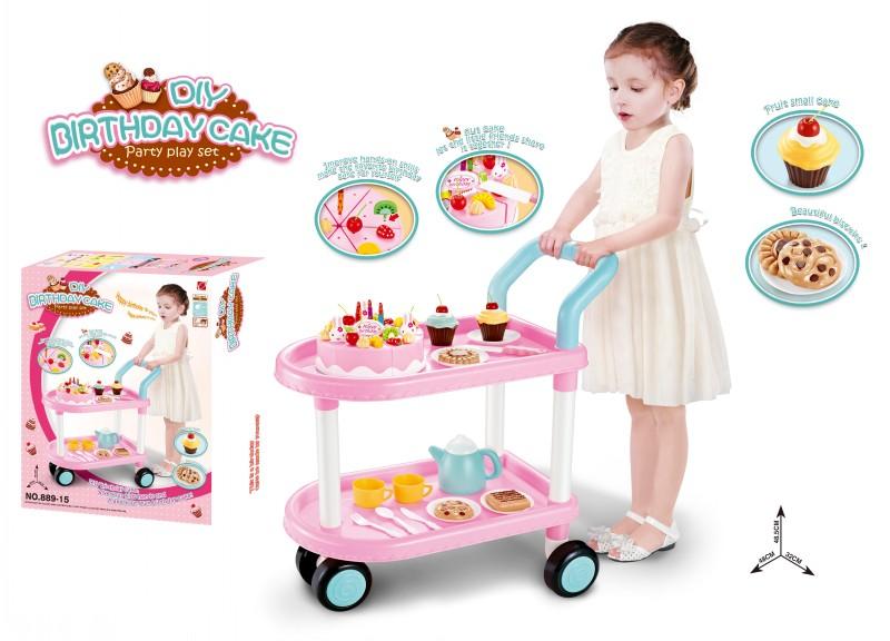 Gift For 1 Year Girl Baby: Child-birthday-gift-shopping-cart-birthday-cake-qieqie-see