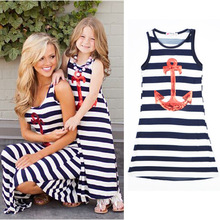 Summer Mom and Daughter Dress Matching Mother and Daughter Family Clothes Girls and Mom Dress Sleeveless